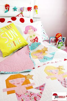 Aloha Mermaid quilt pattern by Red Brolly5