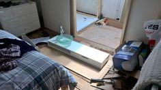 72.)  ...it does mean I spy a better sink shelf...
