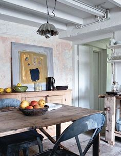 mark and sally bailey | rustic kitchen  the kitchen looks like a painting.