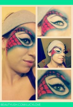 Spider-Man Mask Makeup Look | Lucy M.'s (lucylove) Photo | Beautylish