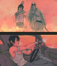 Keith and Shiro in Zombie Apocalypse in The Walking Dead from Voltron Legendary Defender Voltron Klance, Voltron Force, Voltron Fanart, Voltron Ships, Form Voltron, Larp, Character Inspiration, Character Design, Story Inspiration