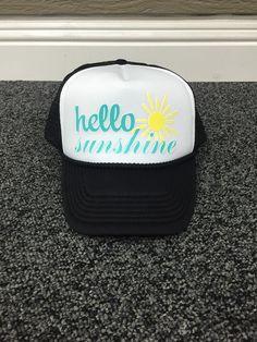 Hello Sunshine Custom Trucker Hat Havasu by sunsetsigndesigns