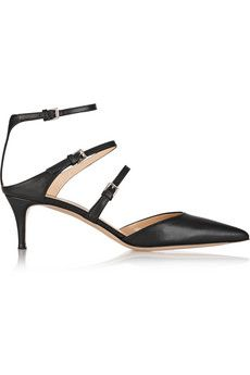 Gianvito Rossi Leather point-toe pumps | NET-A-PORTER
