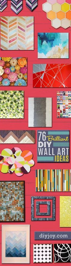 DIY Wall Art Ideas and Do It Yourself Wall Decor for Living Room, Bedroom, Bathroom, Teen Rooms | Modern, Abstract, Rustic, Simple, Easy and Affordable Wall Art Tutorials | Cheap Ideas for Those On A Budget. Paint Awesome Hanging Pictures With These Easy Step By Step Tutorials and Projects | diyjoy.com/...