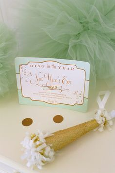 Icing Designs - Cute New Years Party Idea. Love the Invitation