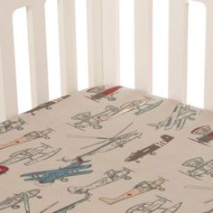 Glenna Jean Fly-By Airplane Fitted Crib Sheet - BedBathandBeyond.com