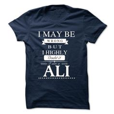 I LOVE ALI TSHIRT - #gift for guys #student gift. MORE ITEMS => https://www.sunfrog.com/Valentines/I-LOVE-ALI-TSHIRT-30515643-Guys.html?68278