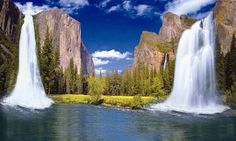 The majestic Yosemite Waterfalls are iconic symbols of scenic beauty as they are set in impossibly scenic valleys and canyons. It's no wonder why Yosemite National Park is California's Waterfall Mecca Places Around The World, Oh The Places You'll Go, Around The Worlds, California Destinations, California Travel, California National Parks, Yosemite National Park, Beautiful Waterfalls, Beautiful Landscapes