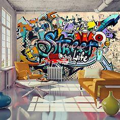 Photo Wallpaper Wall Murals Non Woven Graffiti by GlitterBlast Graffiti Wallpaper Iphone, Graffiti Wall Art, Art Mural, Wall Murals, Graffiti Quotes, Art Quotes, Murals Street Art, Street Art Graffiti, Street Wall Art