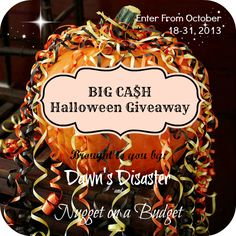 A Peek Into My Paradise: Halloween Cash Giveaway $$$