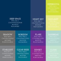 We are the Starry Eyed Theme Color Palette