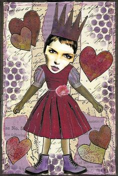 Collage images: zetti heart 4x6 journal page by PaperScraps, via Flickr