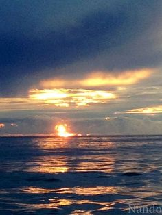 Like a ball of fire on the horizon