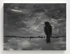 YAN PEI-MING Black Bird II, 2013 Oil on canvas 11 4/5 × 15 7/10 in 30 × 40 cm
