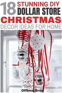 I absolutely LOVE all of these Dollar Store Christmas ideas! The snow village is my absolute favorite. I have a very small Christmas budget this year and this is exactly what I needed. Most Dollar Store crafts look cheap but I will definitely try some of Dollar Tree Christmas, Christmas On A Budget, Dollar Tree Crafts, Diy Christmas Ornaments, Holiday Crafts, Christmas Ideas, Christmas 2019, Christmas Vacation, Diy Christmas Stuff