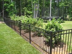 Backyard Fence Landscaping Ideas and Garden Fence Gate Plans. Front Yard Fence, Farm Fence, Pool Fence, Backyard Fences, Fence Gate, Horse Fence, Small Fence, Timber Fencing, Metal Fence