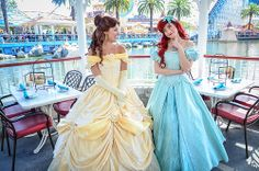 <3 Belle and Ariel at Ariel's Grotto <3