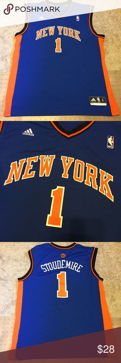 a40b5c0c0 Adidas Amare Stoudemire NY Knicks Jersey Large New York Knicks amare  stoudemire jersey. Size large