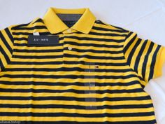 Men's Tommy Hilfiger Polo shirt stripe knit logo 7845165 Westcott Yellow XL Slim
