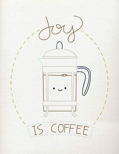 Wild Olive: pattern & printable // joy is coffee (and a way to spread true joy!)