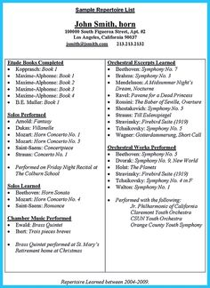 An Audition Resume Is Relatively Different From Other Resumes