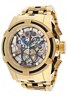 4fbc2594582 Invicta Bolt Chronograph Multicolored Skeletonized Dial Stainless Steel  Watch -  1