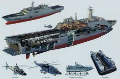 China PLAN type 071 LPD cutaway. People's Liberation Army, Military Drawings, Us Navy Ships, Landing Craft, Merchant Marine, Military Weapons, Modern Warfare, Aircraft Carrier, Boat Building
