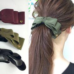 Banana Clip, Banana Hair Clips, Banana For Hair, Crochet Hair Accessories, Crochet Hair Styles, Ribbon Hair Bows, Girl Hair Bows, Hair Bow Tutorial, How To Make Bows