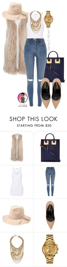 """Untitled #2877"" by stylebydnicole ❤ liked on Polyvore featuring River Island, Sophie Hulme, Helmut Lang, Charlotte Russe, Yves Saint Laurent, Lulu*s and Versus"