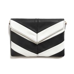 I think chevron patterns are so chic - clean and classic! Aubree Chevron Colorblock Clutch