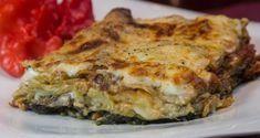 vegeterian lasagna with spinach, mushrooms, tomato and mozzarella! Spinach Lasagna, Create A Recipe, Pasta, Greek Recipes, Mozzarella, Quiche, Risotto, Stuffed Mushrooms, Cooking Recipes
