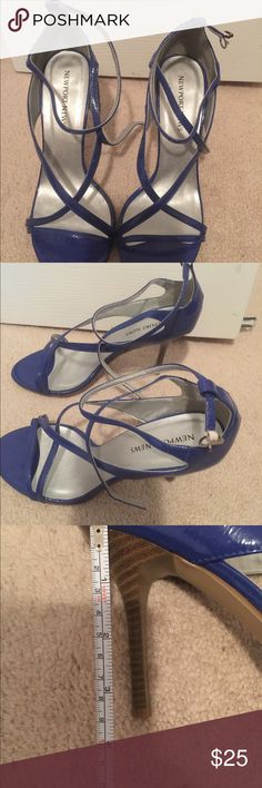 Brand  New Newport News Cobalt Blue Strappy Sandal Brand New Never Worn Newport News Cobalt Blue Sandals. Size 10. Price is firm. These will ship without the box  all items come from a pet free and smoke free home. No trades. No offline offers. Newport News Shoes Sandals
