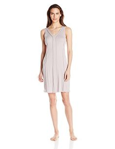 Hanro Womens Pisa Tank Nightgown Shadow Large * More info could be found at the image url. (This is an affiliate link and I receive a commission for the sales)
