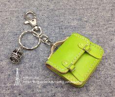 Mini 檸檬黃公事包鑰匙圈