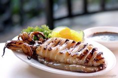 Inihaw na Pusit: Grilled Squid