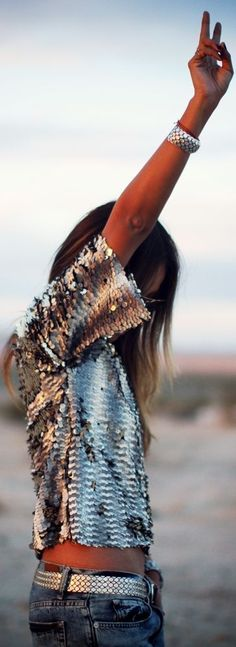 Chic, trendy and fun all in one. | Sequin Top
