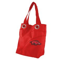 Little Earth Productions NCAA Arkansas Razorbacks Color Sheen Tote - Red
