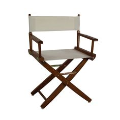 "American Trails Extra-Wide Premium 24"" Directors Chair Natural Frame W/Red Color Cover - 206-20/032-11"