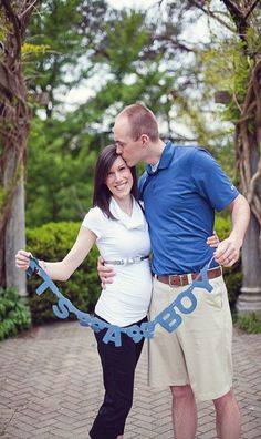 Maternity photo shoot ideas, taken after our gender reveal