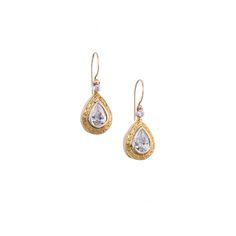 Earrings in 18K Gold, Sterling silver and zircon. #Gerochristojewelry