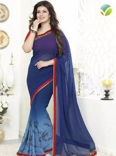 Vinay Fashion 16269 Blue Color Georgette Printed Saree