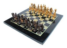 StonKraft 15Marble NonFolding Professional Tournament Flat Collectible Chess Game Board Set Made with Black Marble Mother of Pearl  Roman Brass Pieces Delivery Lt 7 Days >>> Read more reviews of the product by visiting the link on the image.