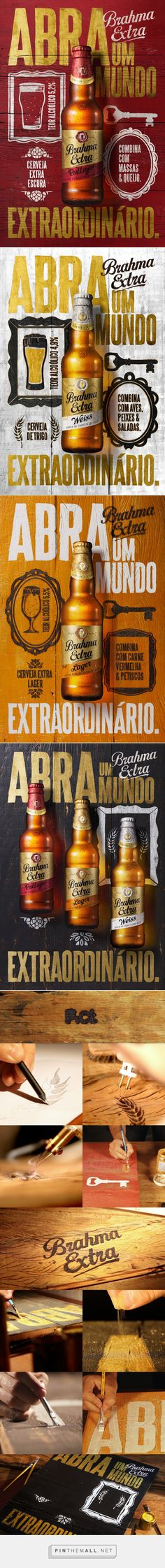Africa Brahma Extra by Pict Estúdio Coperate Design, Label Design, Layout Design, Packaging Design, Branding Design, Print Design, Creative Advertising, Advertising Design, Advertising Ideas