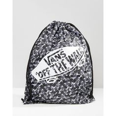 Vans Benched Drawstring Backpack In Butterfly Print (40 RON) ❤ liked on Polyvore featuring bags, backpacks, multi, polyester drawstring backpack, backpack bags, draw cord bags, vans rucksack and butterfly bags