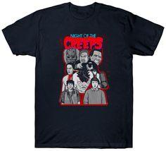 Cartoon Men'S Night Of The Creeps T Top Cult Film Movie 1980'S Fan Horror Sci Fi Crew Neck Short-Sleeve Best Friend Shirts #Affiliate
