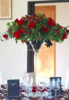 Centre de table coupe Martini de France Fleurs   Photo 24
