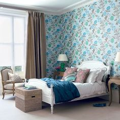 Fresh floral bedroom