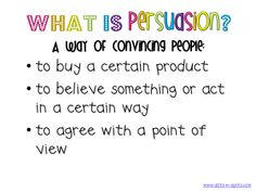 Upper grade friends...check this out for persuasion charts and ideas...could have used it with 6th grade in 2011.