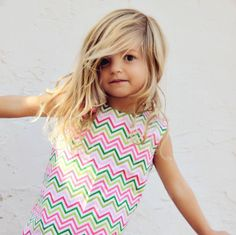 Limited Edition Chevron Print in Lime Pink by simplicitycouture
