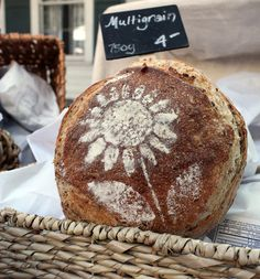 A gorgeous loaf of fresh baked bread at the McKinney Farmers' Market (photo only. no recipe)